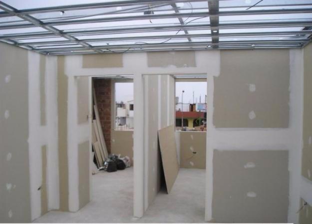 Estructura drywall y divisiones de oficinas e interiores